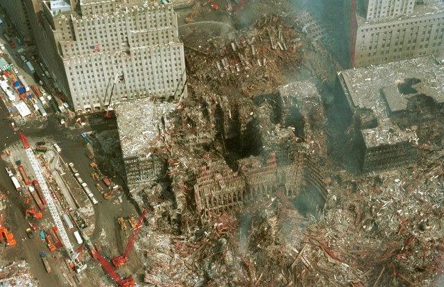 Craters in WTC towers